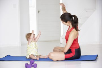 Easy ways to workout with kids. Exercises you can do with your kids.