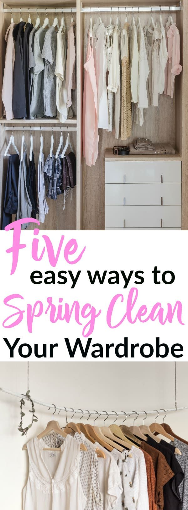 Spring Clean your wardrobe with these 5 easy tricks! Spring Cleaning | Wardrobe Clean-out | Cleaning Hacks | Minimalism | Wardrobe Hacks | Organizing Wardrobe #springcleaning #wardrobe #minimalism #sustainable