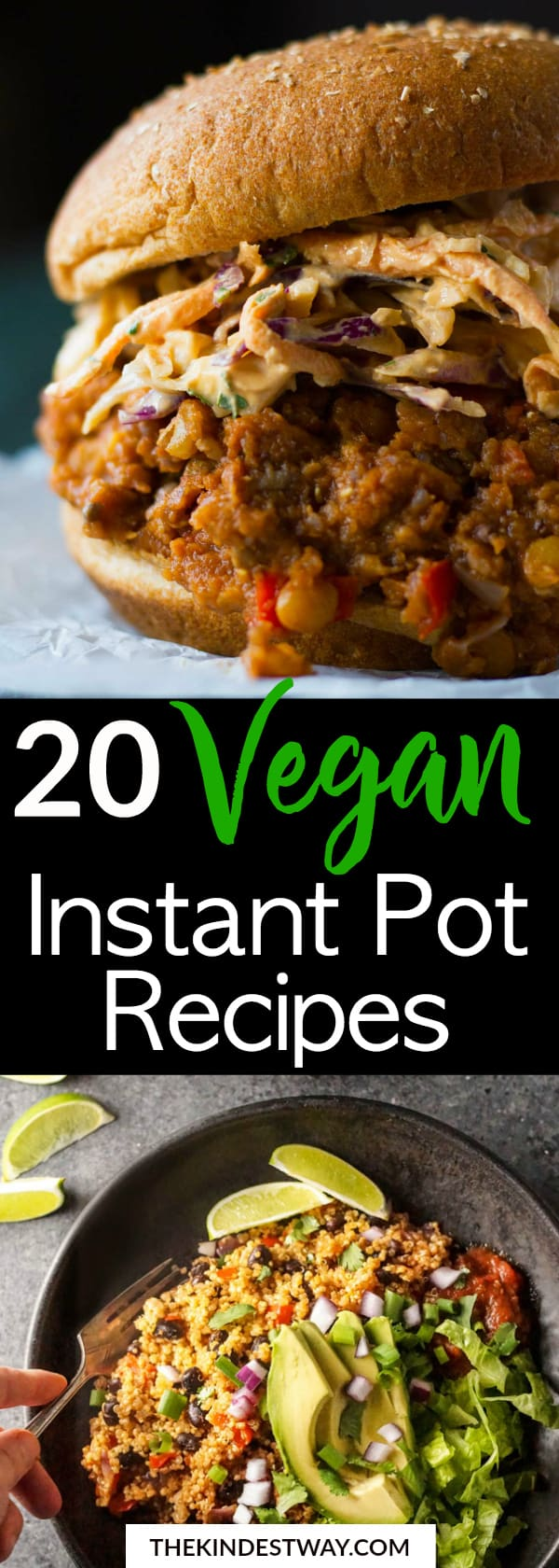 20 Best Vegan Instant Pot Recipes to try today! Vegan Instant Pot Recipes | Instant Pot Vegan Recipes | Vegan Crock Pot Recipes | Vegan Recipes for Instant Pot #vegan #instantpot #veganinstantpot #recipes #veganrecipes