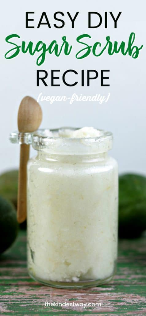 EASY DIY Coconut Lime Sugar Scrub - Vegan Friendly. Sugar Scrub Recipe | Vegan Sugar Scrub | Body Scrub | Vegan Body Scrub | Easy Scrub Recipe | Sugar Scrub Recipe #sugarscrub #vegan #recipe