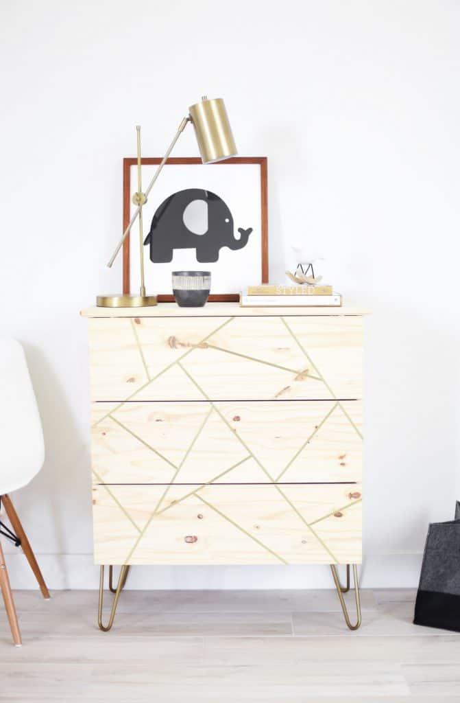 MID CENTURY MODERN IKEA HACK DRESSER