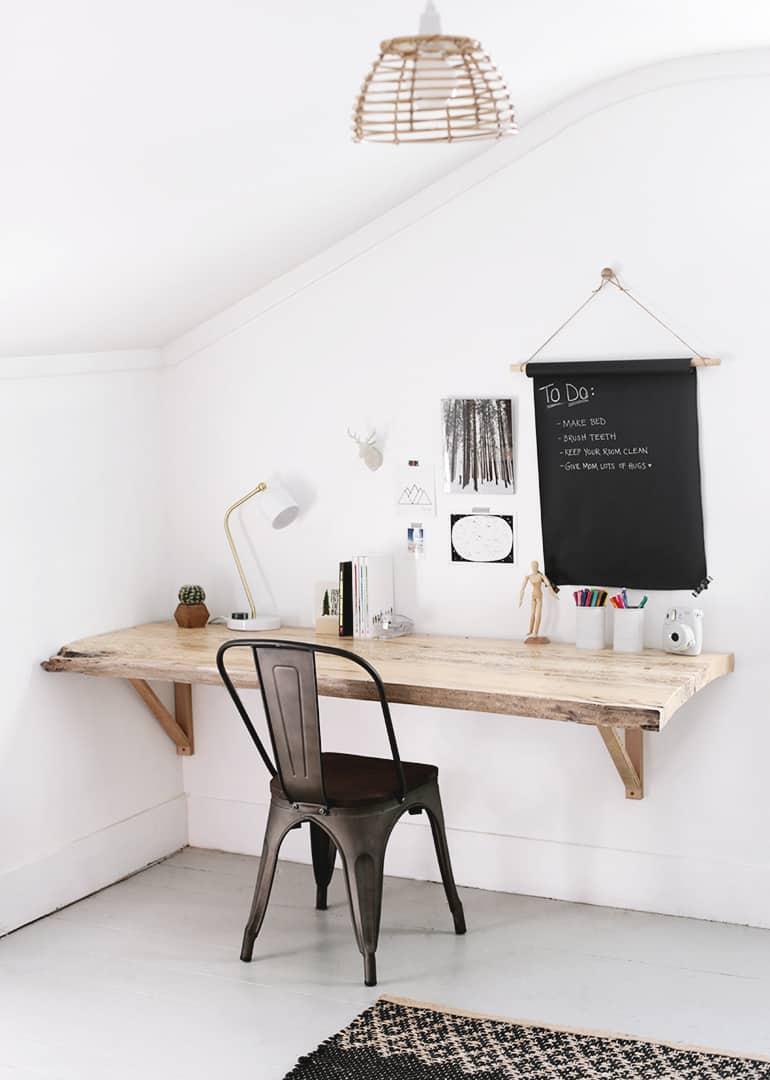 DIY Live Edge Wood Slab Desk