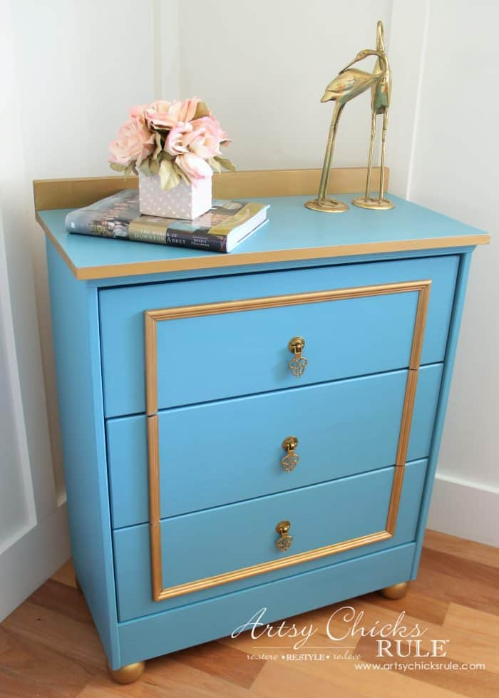 Fancy Blue & Gold Chest – IKEA Rast Hack
