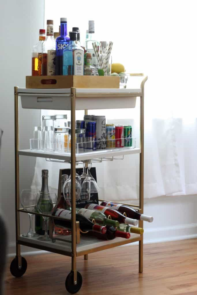 IKEA BAR CART HACK - IKEA HACK USING GOLD PAINT