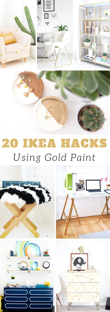 20 Ikea Hacks Using Gold Paint | Ikea Hacks | Gold Paint DIY | Ikea DIY | Easy DIY Ideas #ikea #hacks #gold #paint #diy