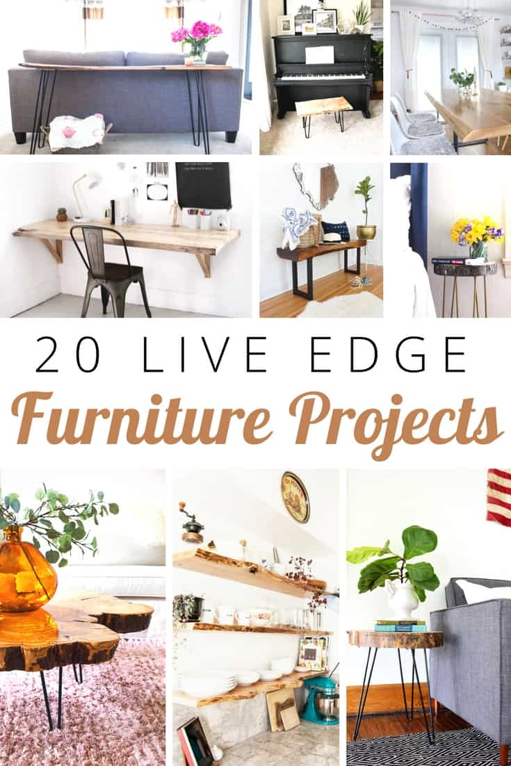 20 DIY Live Edge Furniture Projects | DIY Furniture | Live Edge | Furniture Projects | DIY Projects | Wooden Furniture | DIY Live Edge #DIY #furniture #liveedge