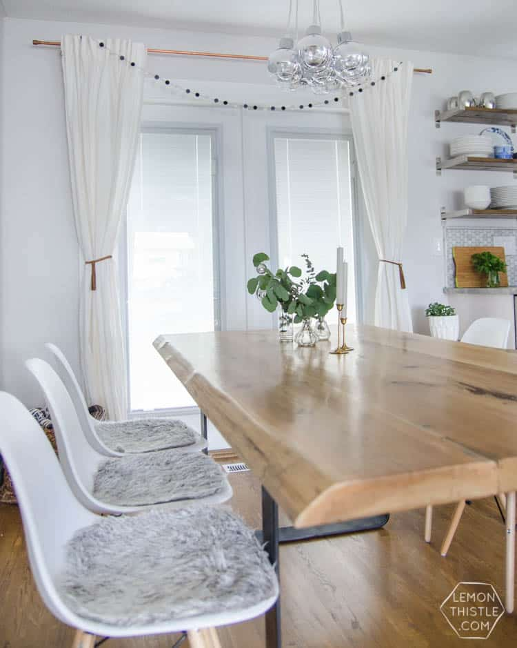 DIY Live Edge Dining Room Table