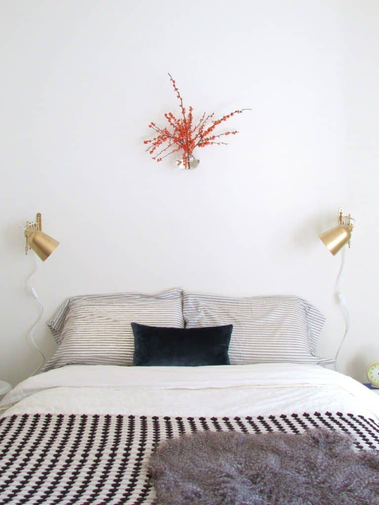 DIY Gilded Accordion Sconce - Ikea hack using gold paint