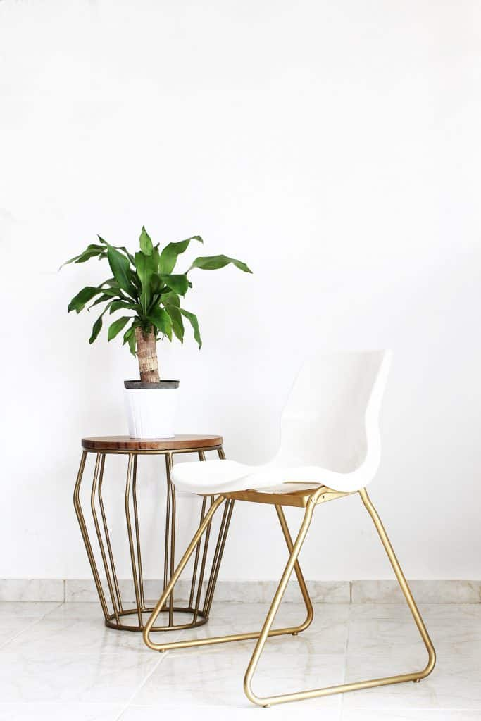 Ikea Hack - Using Gold Paint to DIY a Fab Chair!