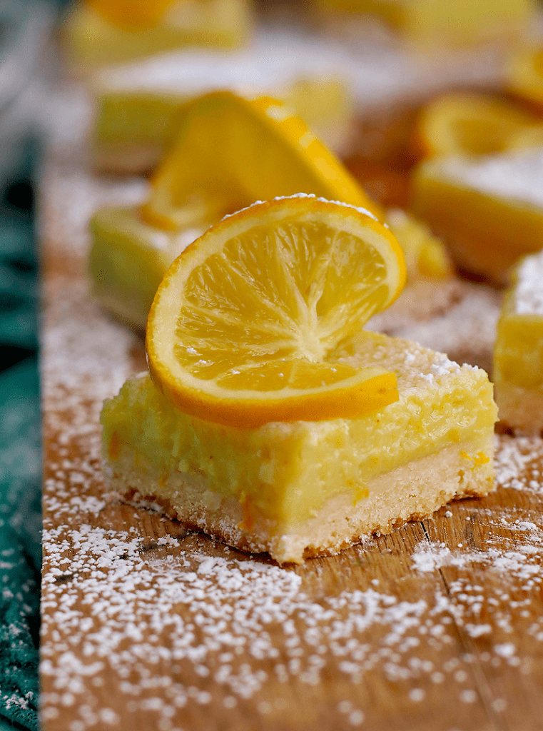 Vegan Meyer Lemon Bars - vegan desserts