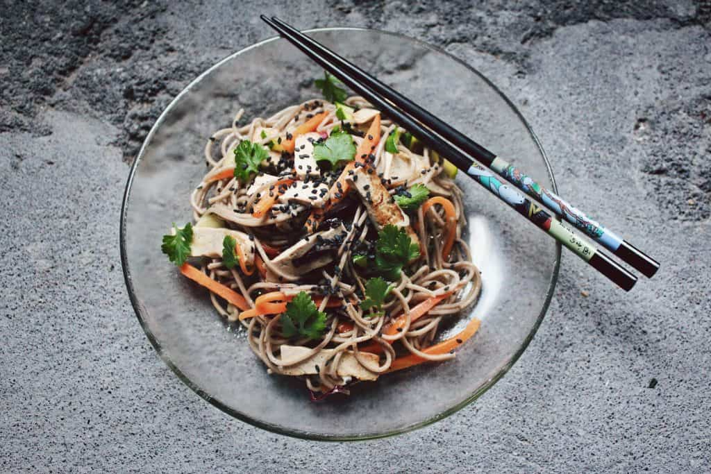 Buckwheat noodles are a great source of Vegan Protein