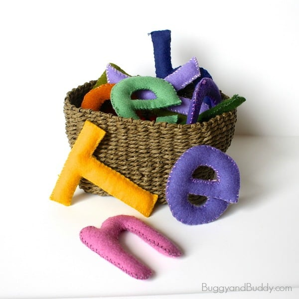 Fun DIY Toy - Stuffed Felt Letters