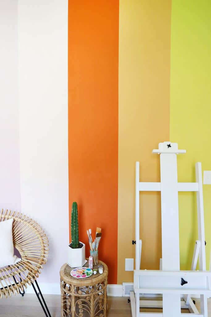 DIY Rainbow Accent Wall