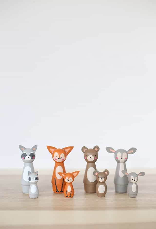 DIY Baby Shower Gift - Peg Doll Animals