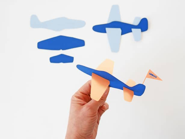 DIY Paper Plane toy with free templates