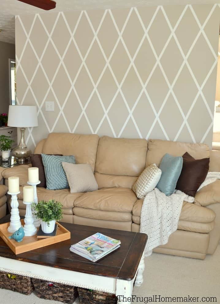 Easy Diamond Accent Wall