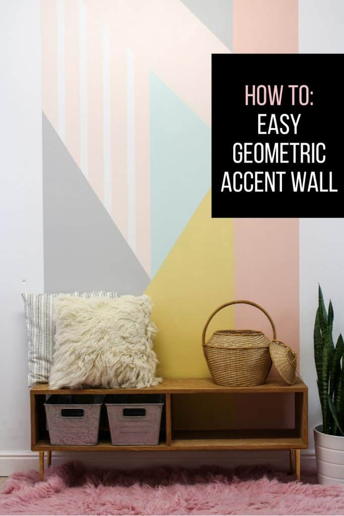 Easy Geometric Accent Wall DIY
