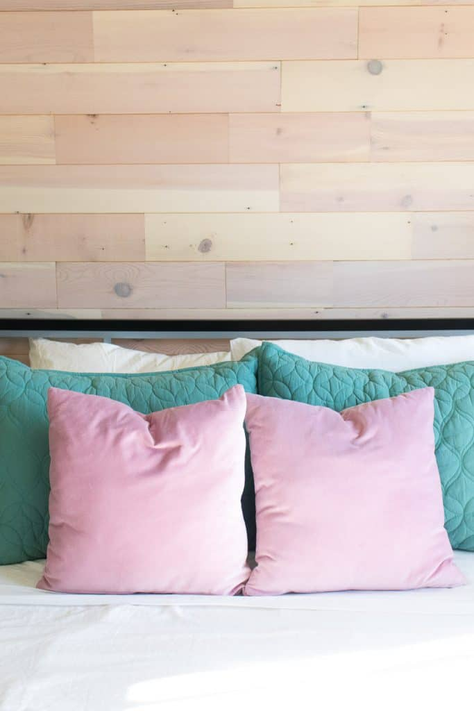 DIY Plank Accent Wall