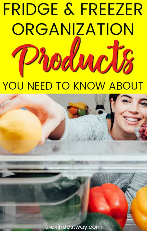 10 Amazing Fridge Organization Products you Need to Know About! With these fridge organization ideas you'll save yourself time and money! Try some of these freezer and fridge organizer products today! #fridge #home #hacks #organization #diy