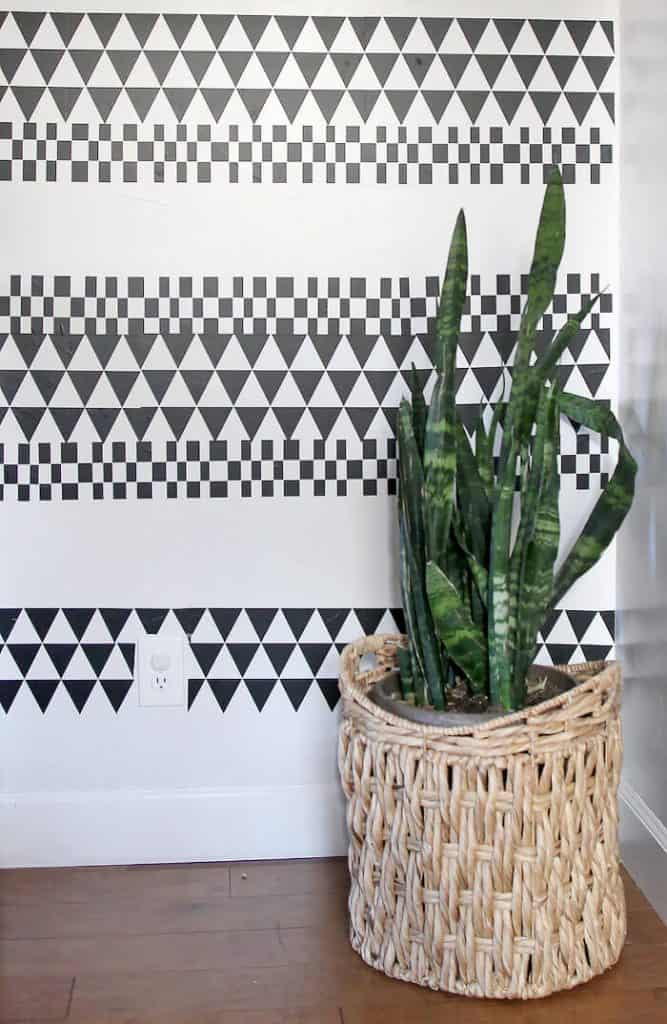 DIY Geometric Accent Wall