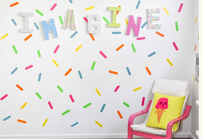 DIY Playroom Accent Wall