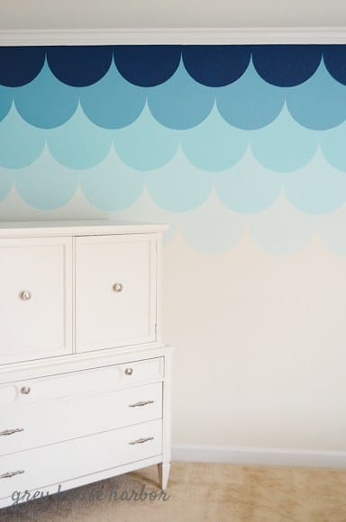 DIY Scallop Accent Wall