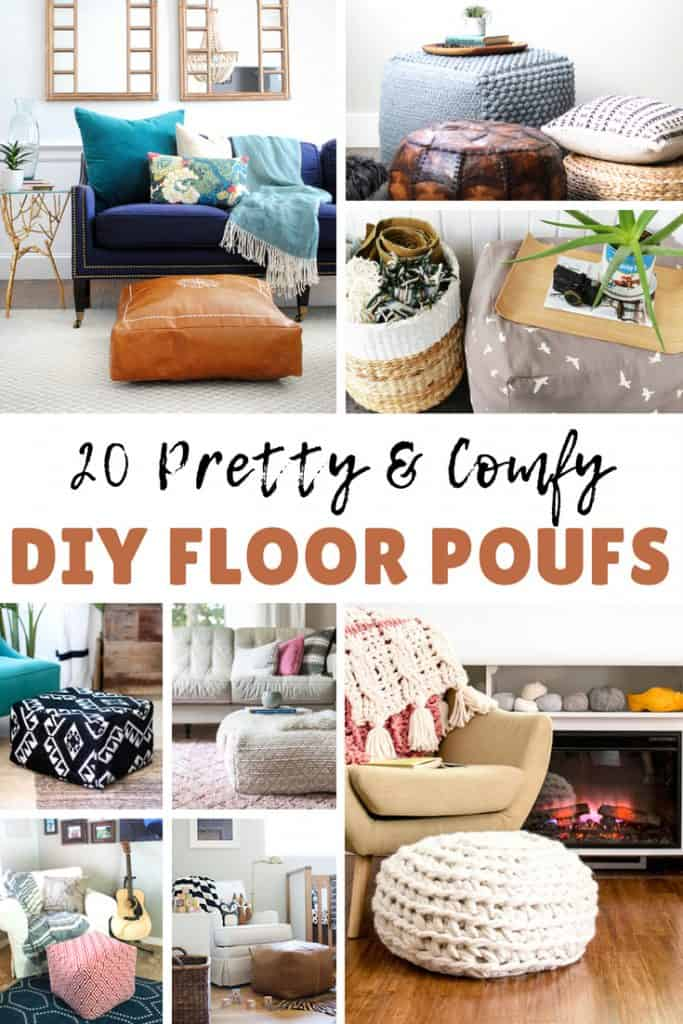 Strange 20 Creative And Comfy Diy Poufs Ottomans The Kindest Way Machost Co Dining Chair Design Ideas Machostcouk