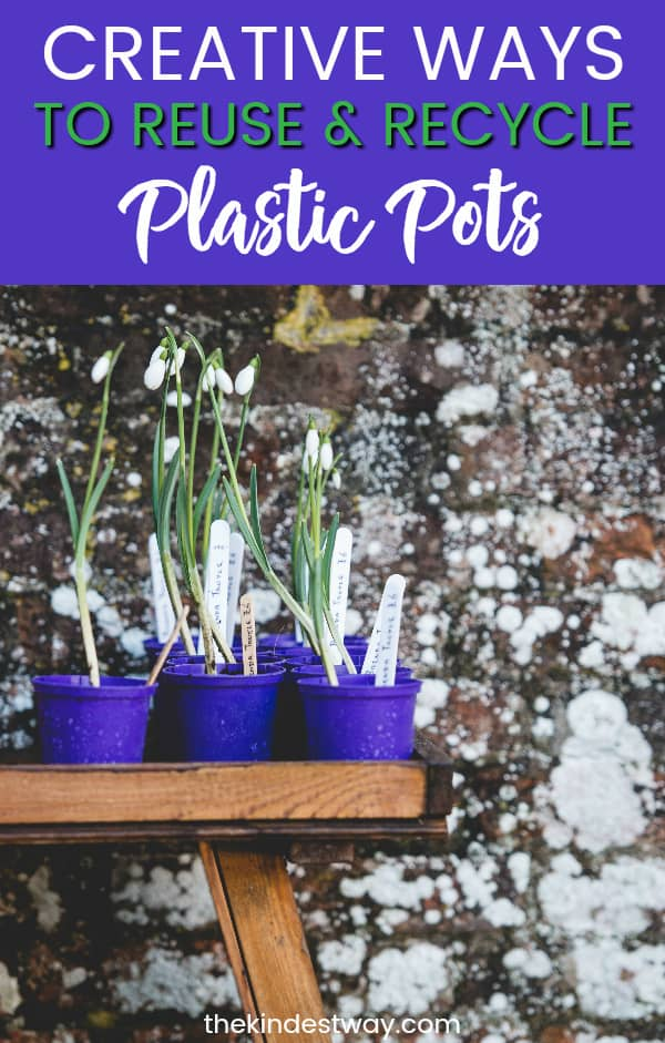 Anyone who loves gardening inevitably ends up with a big stack of plastic plant pots cluttering up their garden shed! Here are some fun and creative ideas for reusing and recycling plastic plant pots!