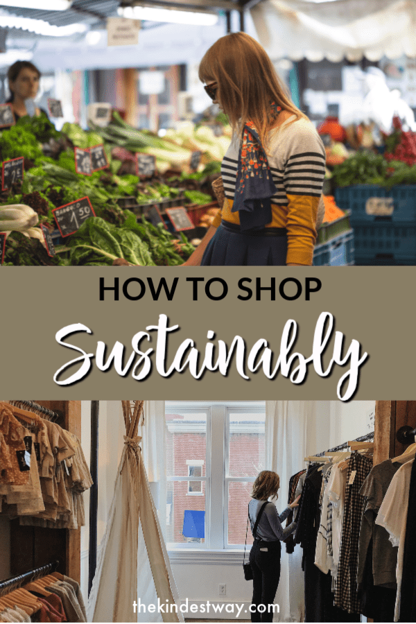 Ever wondered how your shopping habits affect the environment? Find out what you can do to lesson your impact. Learn how to shop more sustainably with these simple tips! #sustainable #shopping #sustainability #eco