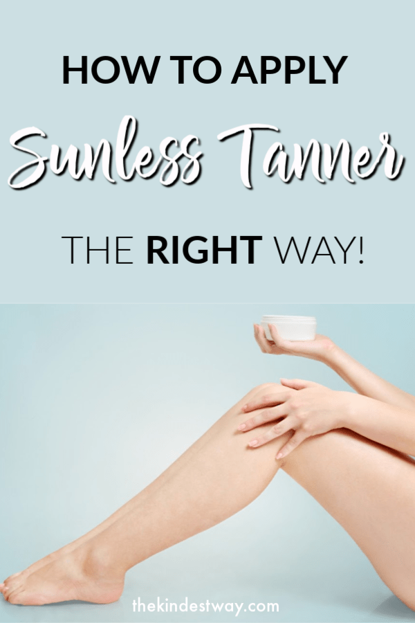 Fins out how to apply sunless tanner the right way. Achieve a beautiful flawless tan without having to expose yourself to the suns harmful rays. #tan #sunlesstanner #beauty #selftanner