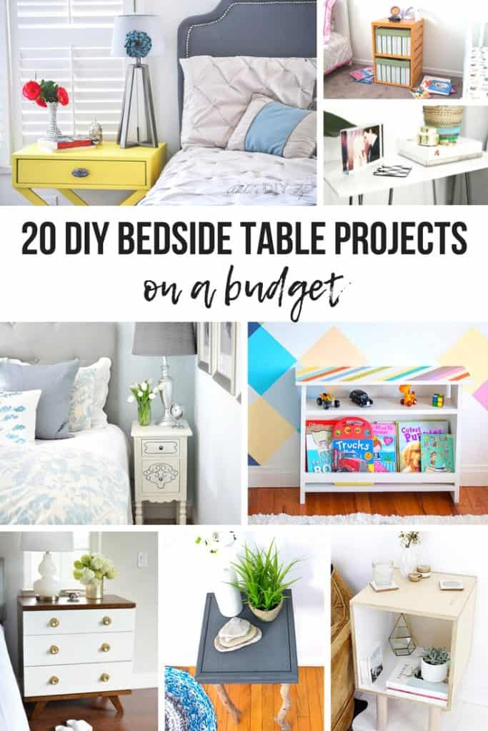 Looking for nightstand inspiration? Check out these 20 DIY Bedside Table Ideas for those on a budget! #DIY #bedsidetable #upcycle