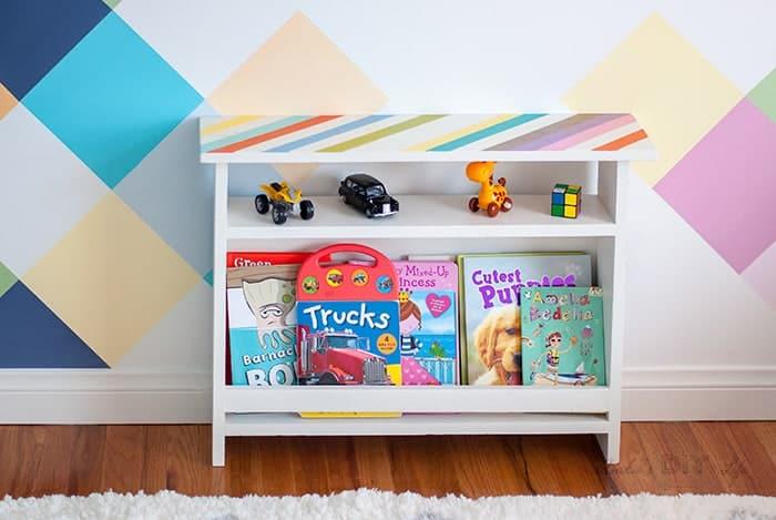 DIY Kids Bedside Table With Inbuilt Book Storage