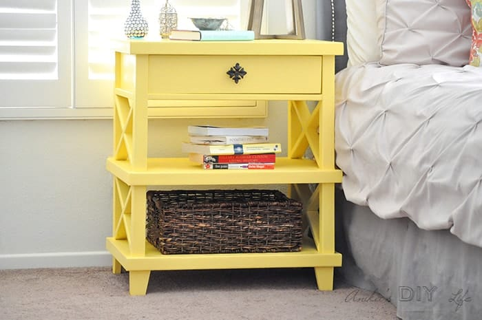 DIY Pottery Barn inspired bedside table