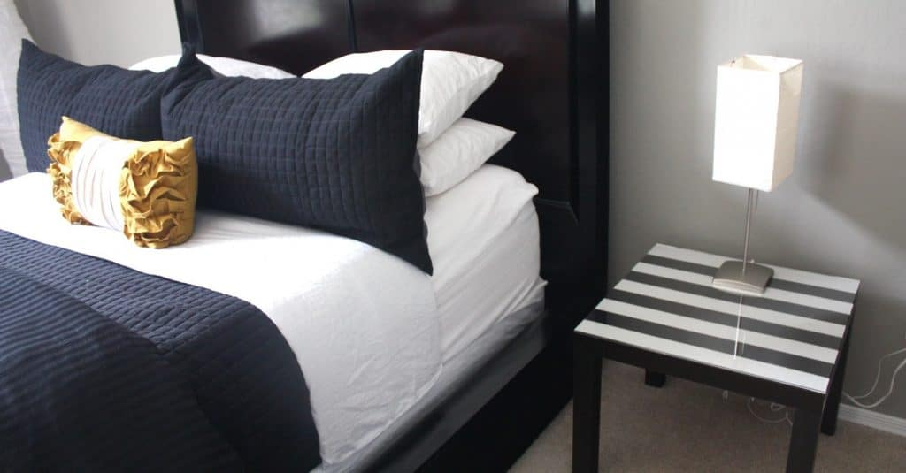 DIY Bedside Table with Fabric