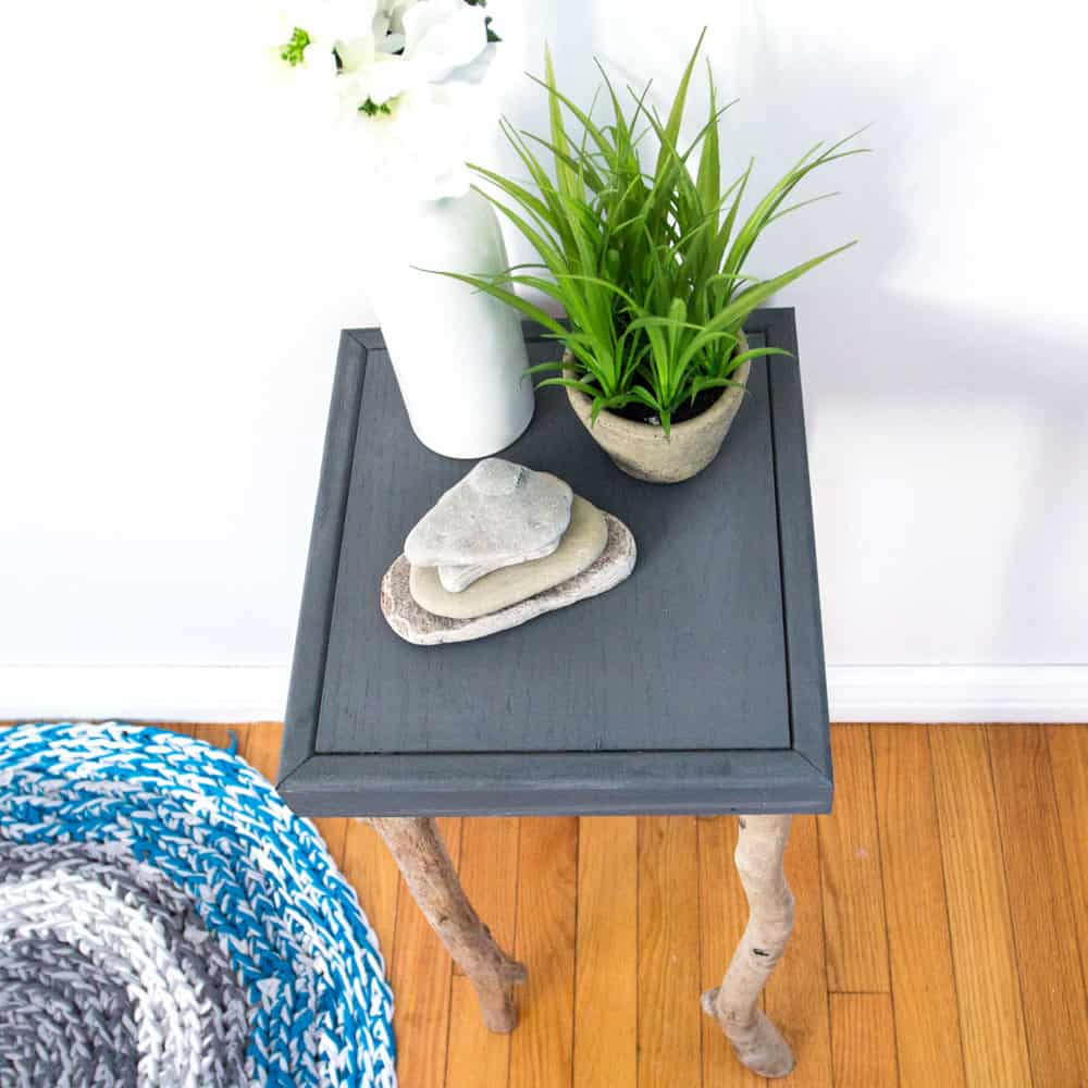 DIY Rustic Bedide Table