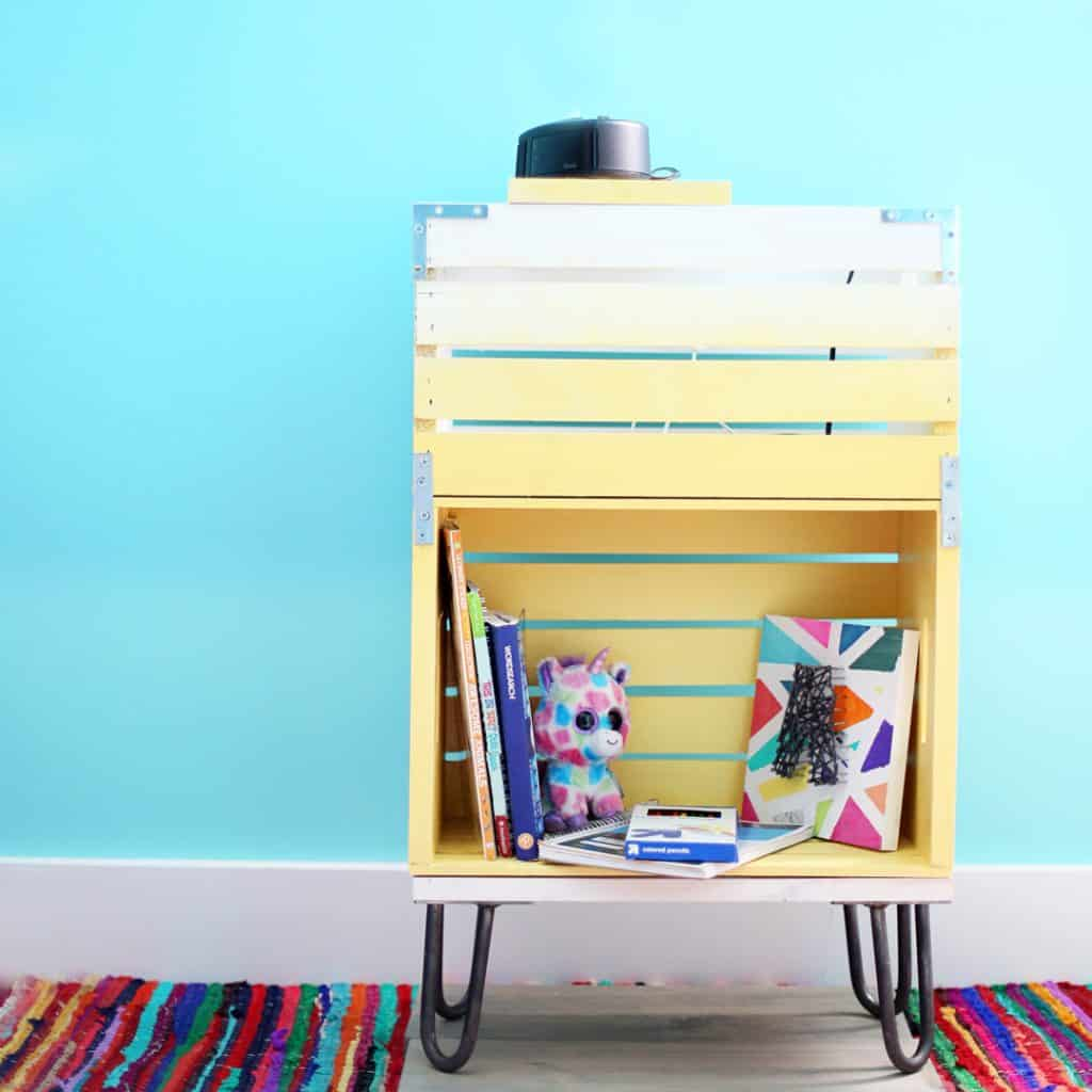 DIY Wooden Crate Bedside tables