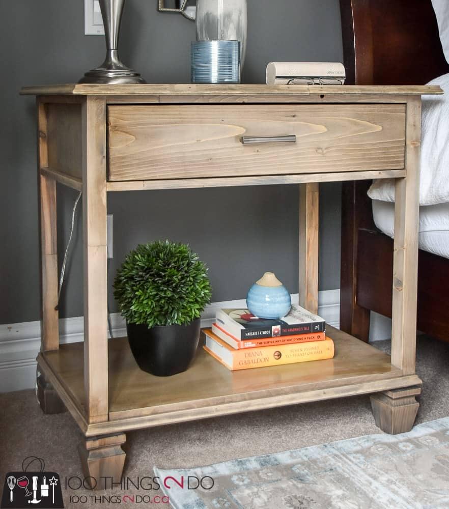 DIY nightstand tutorial