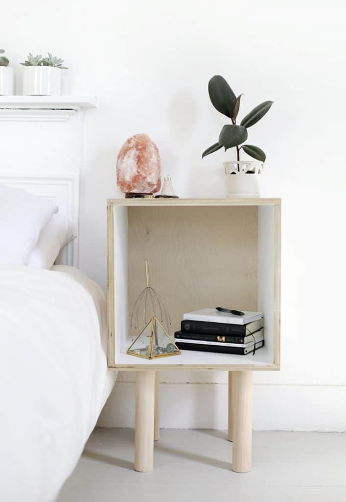 Cheap DIY bedside table ideas