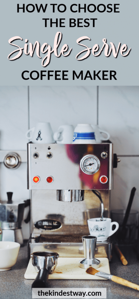 When deciding which single serve coffee maker to buy, it can be confusing to know which one to get! We lay out all the questions you need to ask yourself in order to buy the best single serve coffee maker for your home or office! #coffee #coffeemaker #coffeemachine