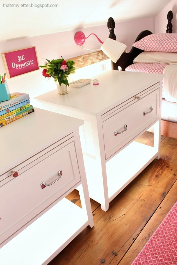 DIY Nightstand with Pull Out Ledge
