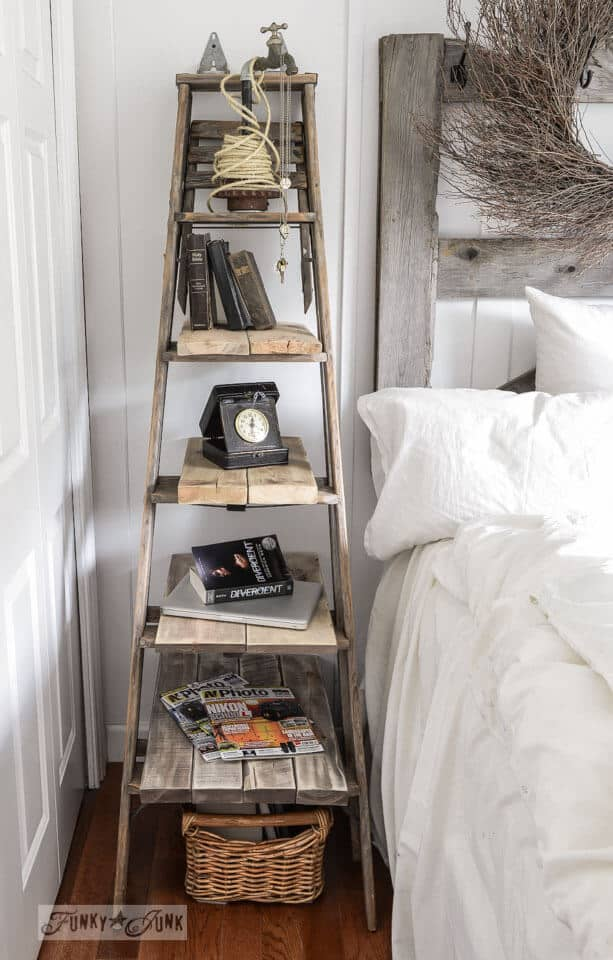 DIY Ladder Bedside TABLE