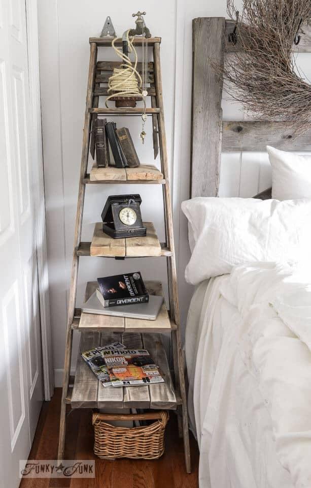 DIY Ladder Bedside TABLE