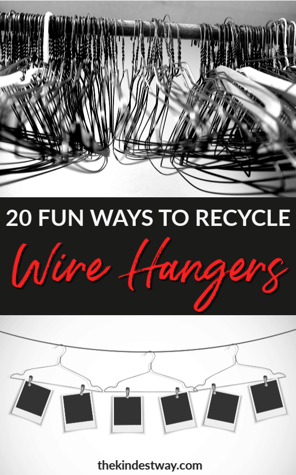 Find fun & creative ways to reuse and recycle wire hangers around your home! #recycle #ecofriendly #reuse #diy #crafts