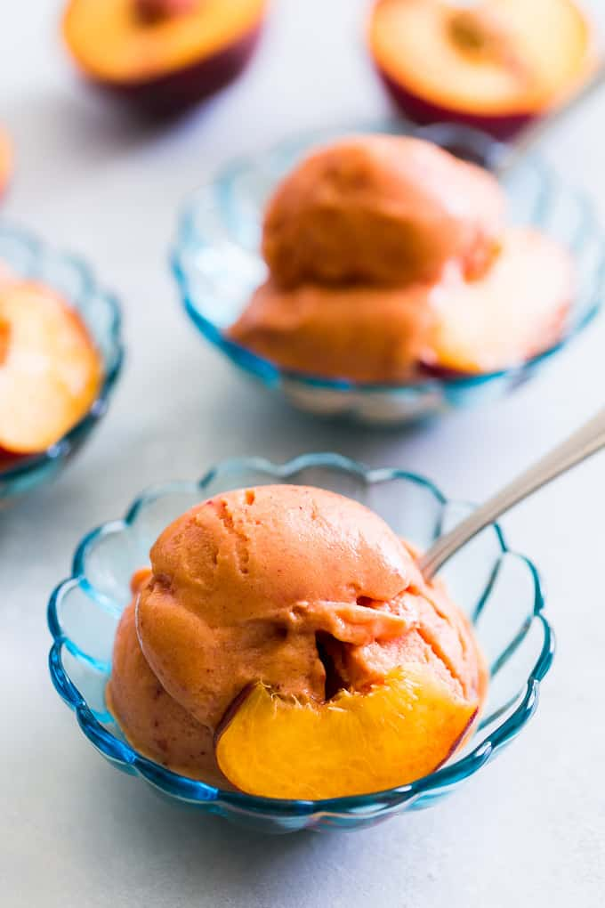 Peach Nice Cream Recipe Vegan