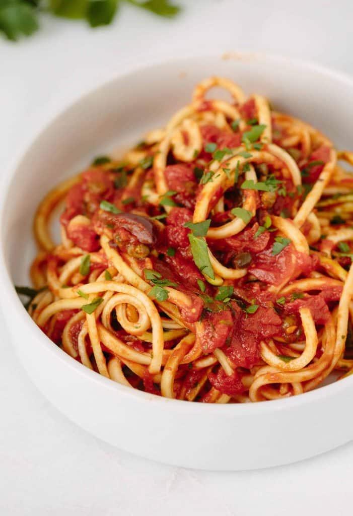 Zucchini pasta recipe vegan