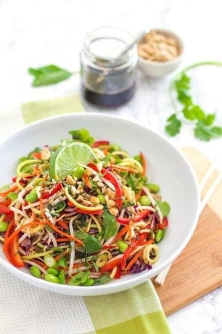 Vegan Zucchini Noodle Pasta Recipe