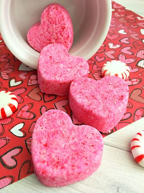DIY Heart Shaped Bath Bombs