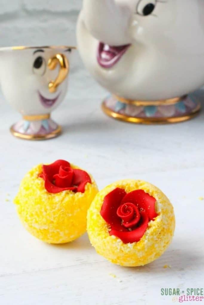 How to make disney inspired DIY Bath Bombs