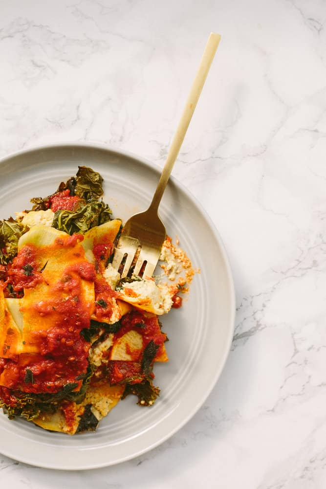 Vegan kale lasagna recipe