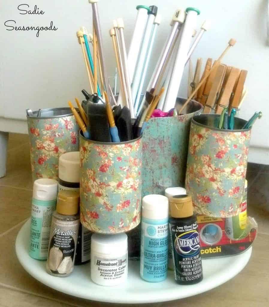 DIY Spinning Organizer for Craft Room